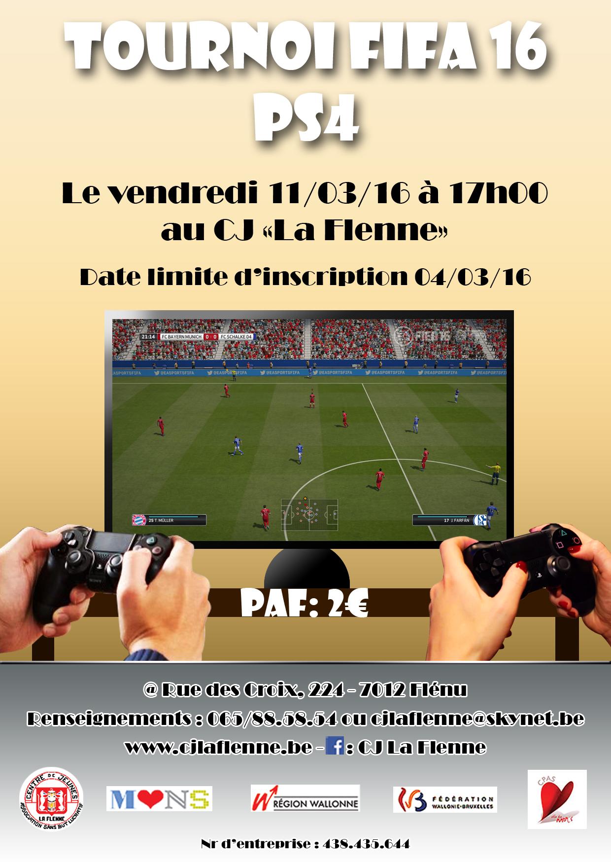 Tournoi FIFA 16 ps4 bon